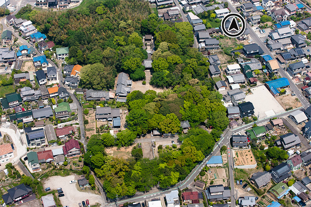土呂八幡宮航空写真1